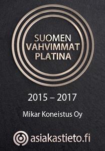 Asiakastieto Suomen Vahvimmat 2015-2017